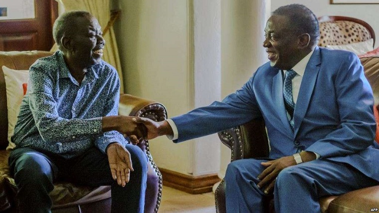 Isn't it ironic that Chamisa was asked to lead MDC the very day Mnangagwa visited Tsvangirai?