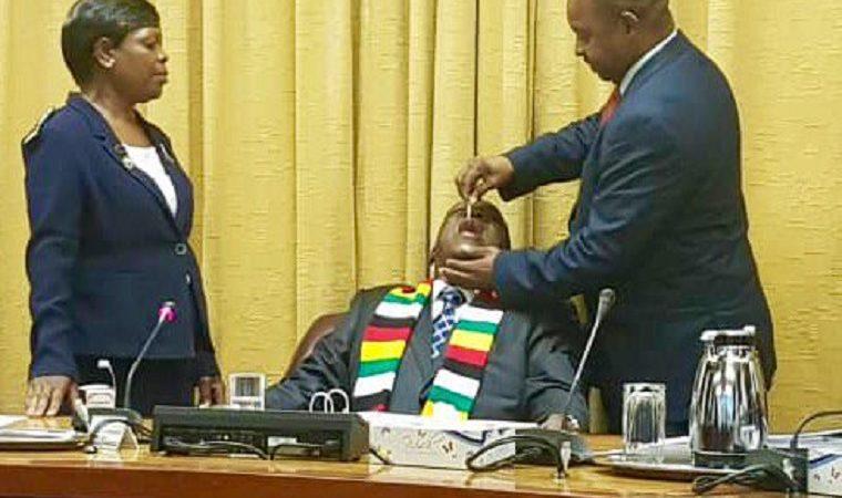 Mnangagwa gets his cholera vaccination