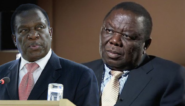Image result for tsvangirai, mnangagwa and chamisa