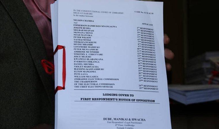 "Mnangagwa lawyers dismiss Chamisa election challenge as ""political rhetoric packaged in an affidavit""."